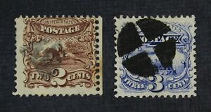 CKStamps: US Stamps Collection Scott#113 114 Used #113 Lightly Crease