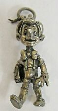 Disney PINOCCHIO Sterling Silver 1940's solid cast figural charm mint