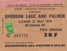 ticket billet used stub concert EMERSON LAKE & PALMER 1974 PARIS