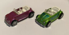 2007 Hotwheels VW Beetle Pink Green Mystery Cars Very Rare!