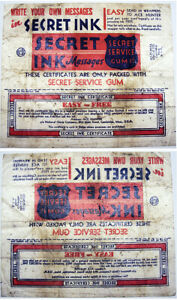 Rare 1935 Secret Service Flashes Cards Wax Wrapper National Chicle Company