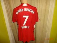 "FC Bayern München Adidas Heim Trikot 2007/08 ""-T---Home-"" + Nr.7 Ribery Gr.M"
