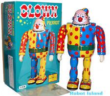 Metal House Clown Robot Tin Toy Windup Japan - USA SELLER