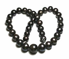 """16"""" PEACOCK Freshwater Pearl Egg/Potato Round ~36 Beads 11-16mm GRADUATED Only 1"""