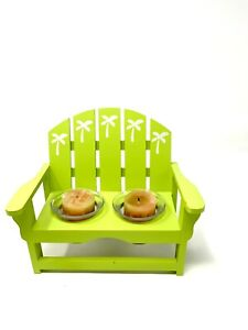 Whimsical Wooden Miniature  Beach Chair Votive Candle  Holder - Bright Green