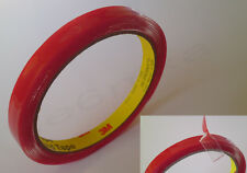 3M Car Trim Moulding Badge Tape TRANSPARENT Foam Adhesive Double Sided 2.5m/10mm