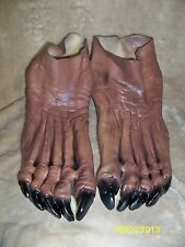 WOLFMAN WEREWOLF MONSTER BROWN  FEET SHOE COVERS COSTUME DU981
