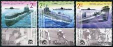 sous-marins JOURNÉE DU TIMBRE MNH Lot de 3 Onglets timbres 2017 Israël