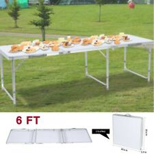 6 FT Portable Folding Table Picnic Camping Dining Party Family Backyard BBQ
