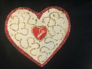 Vintage 1960s Charles Gregor Surprise Toy Puffy Valentine Heart - Unopened!