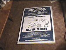 "SLAP SHOT ""B"" 1977 ORIG MOVIE POSTER PAUL NEWMAN HOCKEY"