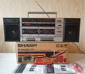 BOOMBOX SHARP GF-560Z(S) Vintage 1985y Own Package Manual Fully Working
