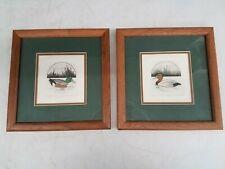 L. DuBose Ltd Ed Artist's Proof Duck Prints Canvasback & Shoveler Framed 12x12