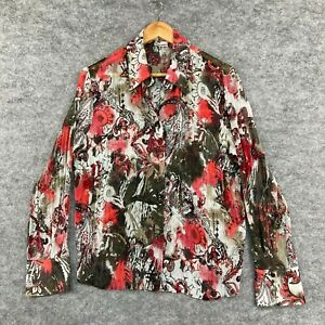 Gerry Weber Womens Blouse Top Size 14 Multicoloured Long Sleeve Paisley 175.23