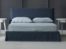 Upholstered boho modern king size bed
