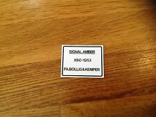 FORD ESCORT, MEXICO, CORTINA, GRANADA, CAPRI. paint code sticker SIGNAL AMBER