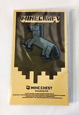 Minecraft Mine Chest Loot Crate Exclusive Horse Pin Rare Official Collectible