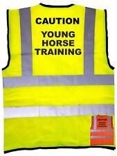Young Horse Training Vest Horse Riding Hi Vis Safety En471 Waistcoat Reflective
