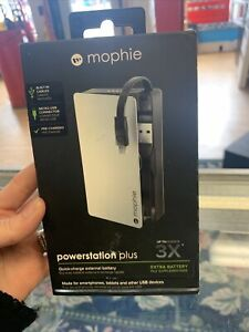 Mophie Powerstation Plus Extra Portable Battery Pack w/ Built-In Micro USB Cable