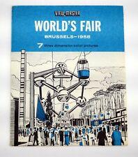 View-Master World's Fair Brussels 1958  - 1 reel B 7604 - SH