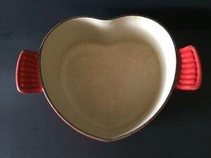 Le Creuset Heart Shaped Casserole Enamel Cast Iron NO LID