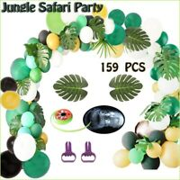 159Pcs Hawaiian Theme Party Balloon set+Balloon Arch Jungle Safari Party Decor