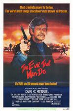 THE EVIL THAT MEN DO MOVIE POSTER CHARLES BRONSON Original 27x41 Folded 1984
