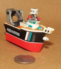 Small Micro Machine Plastic Salvage Ship named Aquarius