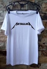Simple White Metallica T Shirt unisex size S, M, L, XL