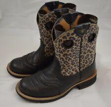 Womens ARIAT Leopard Cheetah Roper Cowboy Western Boots Size 6.5 B