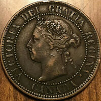 1899 CANADA LARGE CENT LARGE 1 CENT PENNY - Excellent example!