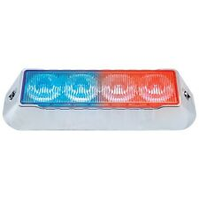 4 LED Warning Light (2 Blue and 2 Red LEDs/Clear Lens) with 13 Flash Patterns