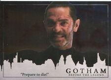 Gotham Season 2 Foil Parallel Base Card #60 ?Prepare to die!?