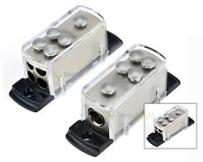 Two 4 8 Gauge Power Distribution Block Car Audio Wiring 1 to 4 Amp Platinum