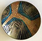 Mid Century Modern Handmade Enamel Gold Red Artist SignFather Gregory Med Bowl