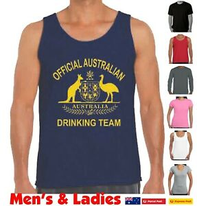 Australian Drinking team t shirt Aussie Funny t-shirts Oz Australia Day Straya