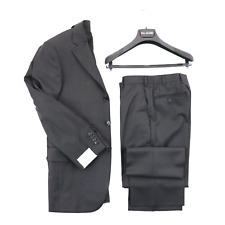 NWT PAL ZILERI Smoke Gray Super 130's Tasmanian Wool 3 Btn Suit 50 L 60