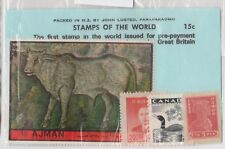 (V6-28) 1940-70s World old stamps pack 4stamps mix (AC)