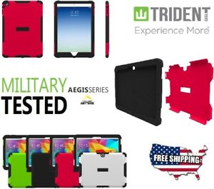 "Samsung Galaxy Tab 4 Military Trident Aegis Armor Hard Case Cover 10"" 10.1"" lot"
