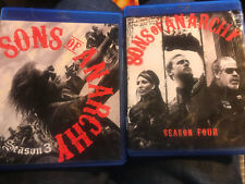 USED Sons of Anarchy Season 3 & 4 - Blu-ray  BAD COVER ,TORN & WEARS