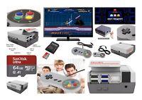 Retro Console Kit - Raspberry Pi 4B NES Case, SNES Controllers - SAME DAY DPD