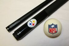 Official NFL Pittsburgh Steelers Billiard Pool Cue Stick & NFL Logo Cue Ball NEW