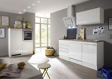 Küche Küchenzeile Küchenblock Einbauküche Komplettküche weiß 290 cm respekta