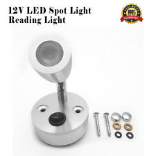 12V LED Spot Reading Light Switch Camper Caravan Boat Motorhome Interior Light