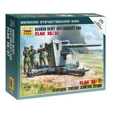 Zvezda 6158 1/72 German 88 Mm Flak 36/37 Plastic Model Kit - ZV6158