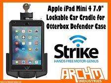 """STRIKE ALPHA APPLE IPAD MINI 4 7.9"""" LOCKABLE CAR CRADLE OTTERBOX DEFENDER CASE"""