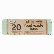 2 X 20 Kitchen Caddy Compostable Biodegradable Food Waste 5L Bin Liner Bags DW