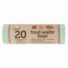 2 X 20 Cucina Caddy Compostabile Biodegradabile Cibo Rifiuti 5L Sacchetti Per DW