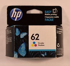 Brand New SEALED HP 62 Original Tri-Color Ink Cartridge (C2P06AN)