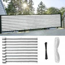 Balcony Privacy Screen Fence Mesh Balcony Windscreen Sun Shade UV-Resistant -US